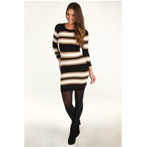 French Connection • Jag Striped Sweater Dress